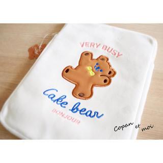 キャスキッドソン(Cath Kidston)の【即発送】割引有 新品 タブレット milkjoy 本 ケース クマ 熊 ベア(ポーチ)