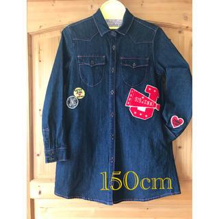 ジェニィ(JENNI)のJENNI デニム 上着 ワンピース シャツ 150㎝(ジャケット/上着)