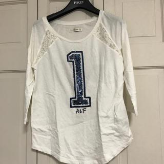 アバクロンビーアンドフィッチ(Abercrombie&Fitch)のアバクロレースとキラキラ加工の長袖Tシャツ(Tシャツ(長袖/七分))