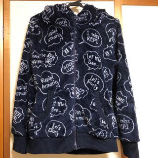 レピピアルマリオ(repipi armario)のレピピアルマリオ ロゴフリースパーカー(Tシャツ/カットソー)