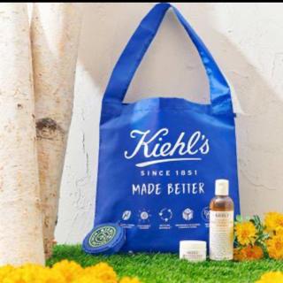 Kiehl's - キールズ エコバッグ ブルー コンパクト