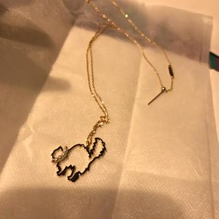タサキ(TASAKI)の未使用 TASAKI 猫ネックレス K18(ネックレス)