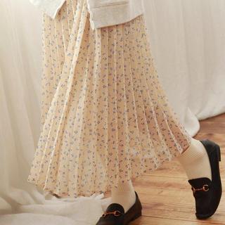 クリスプ(Crisp)の【新品未使用】crisp プリーツスカート 花柄 2020SS発売(ロングスカート)