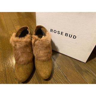 ローズバッド(ROSE BUD)のROSE BUD ファーショートブーツ(ブーツ)