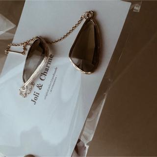 handmade ピアス gold×glas long pierce (ピアス)