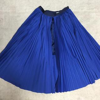 サカイ(sacai)のsacai luck コットンプリーツ スリット スカート サイズ1 ブルー(ひざ丈スカート)