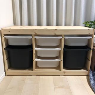 イケア(IKEA)のIKEA イケア トロファスト 子供部屋 収納 ラック 無印良品 ニトリ パイン(収納/チェスト)