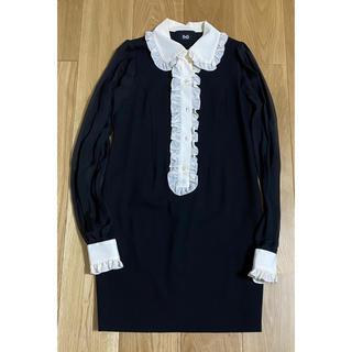 D&G - D&G  黒 シルクウール silk wool  ワンピース S