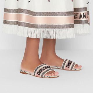 クリスチャンディオール(Christian Dior)のクリスチャンディオール   dior ローザムタビリス サンダル ミュール(ミュール)