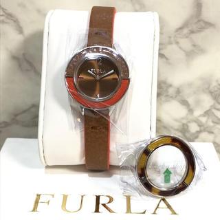 フルラ(Furla)の【未使用】FURLA フルラ 腕時計 CLUB クラブ 替えベゼル付 ブラウン(腕時計)