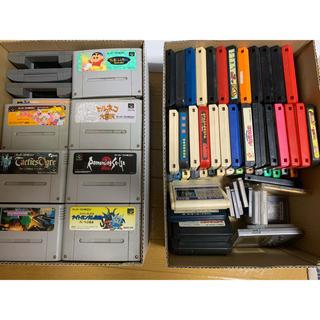 ファミリーコンピュータ(ファミリーコンピュータ)のファミコンソフト、スーパーファミコンソフト、ゲームボーイソフト本体まとめ売り(家庭用ゲームソフト)