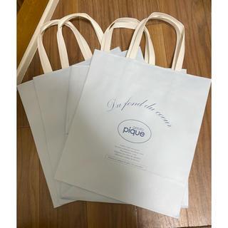 ジェラートピケ 紙袋 ショッパー 未使用 4枚