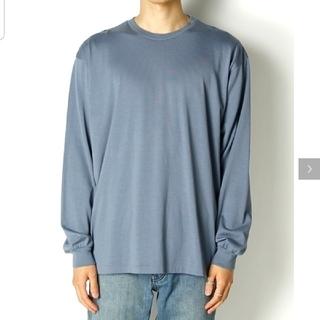 コモリ(COMOLI)のAURALEE LUSTER PLATING L/S TEE blue gray(Tシャツ/カットソー(七分/長袖))