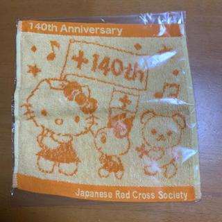 ハローキティ(ハローキティ)のハローキティ&けんけつちゃん 赤十字140周年バンドタオル(タオル/バス用品)