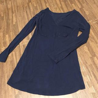 ベルメゾン(ベルメゾン)のホットコット紺色マタニティインナーS-M(アンダーシャツ/防寒インナー)