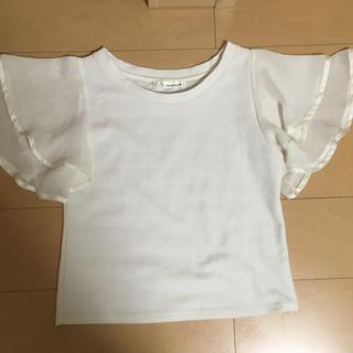 ミスティウーマン(mysty woman)の袖フリル。可愛いトップス(Tシャツ(半袖/袖なし))