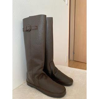サマンサモスモス(SM2)のkoos風天然皮革 ロングブーツ*L バングラデシュ産皮革(ブーツ)
