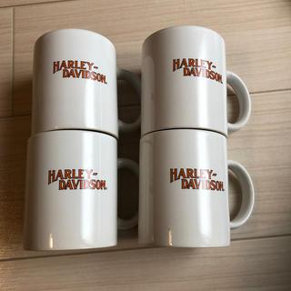 ロンハーマン(Ron Herman)のデッドストック ハーレーダビッドソン マグカップ四個 USA HARLEY(その他)