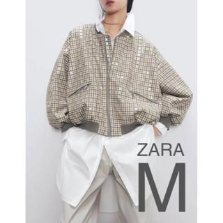 ザラ(ZARA)の【新品・未使用】ZARA スエード風 ボンバー ジャケット M(ブルゾン)
