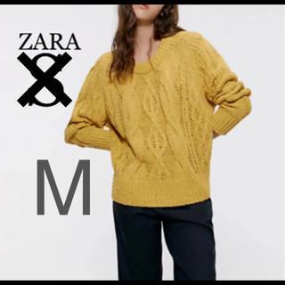 ザラ(ZARA)の【新品・未使用】ZARA ケーブルニット セーター  M(ニット/セーター)