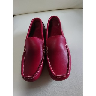 ホーキンス(HAWKINS)のホーキンススポーツ ローファー レッド 35size(ローファー/革靴)