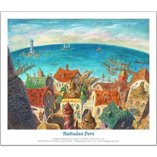 マジックザギャザリング(マジック:ザ・ギャザリング)のリシャーダの港 Jerry Tiritilli氏サイン入りアートプリント MTG(その他)