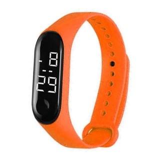 デジタル デザイン ウオッチ 防水 オレンジ(腕時計(デジタル))