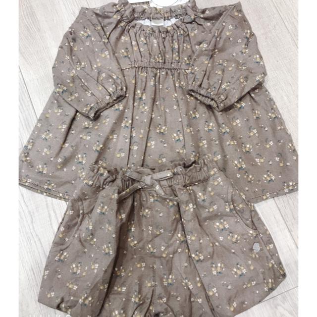 futafuta(フタフタ)のtete a tete セットアップ 80 キッズ/ベビー/マタニティのベビー服(~85cm)(ワンピース)の商品写真