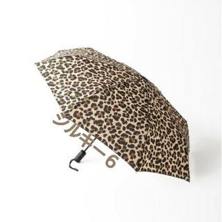 アパルトモンドゥーズィエムクラス(L'Appartement DEUXIEME CLASSE)のアパルトモン L'Appartement レオパード 折りたたみ 傘(傘)