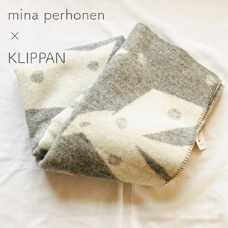 ミナペルホネン(mina perhonen)の新品☆クリッパン×ミナ ペルホネンmina 鳥 ブランケット毛布 グレー (その他)