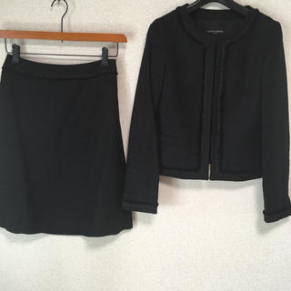 ユナイテッドアローズ(UNITED ARROWS)のユナイテッドアローズ スーツ 38 W68 黒 ラメ 入園 麻混 DMW(スーツ)