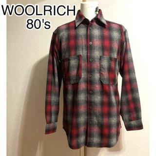 ウールリッチ(WOOLRICH)の◎ 80年代 ビンテージ オンブレ チェック ウールリッチ WOOL RICH(シャツ)