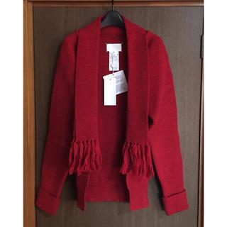 マルタンマルジェラ(Maison Martin Margiela)のS新品 メゾン マルジェラ レディース マフラー ニット カーディガン セーター(カーディガン)