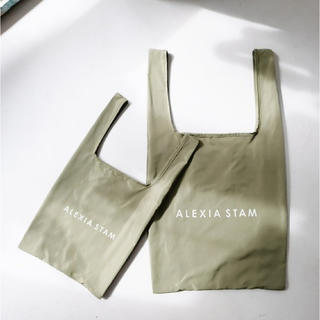 ALEXIA STAM - 【ALEXIASTAM】 エコバッグ カーキ 2個セット