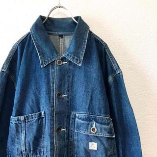 【90s】DKNY ビッグシルエット カバーオール デニムジャケット ブルー S