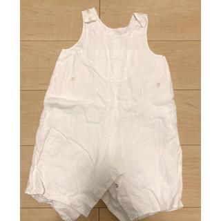 ボンポワン(Bonpoint)のボンポワン サロペット オーバーオール 白 18m(パンツ)