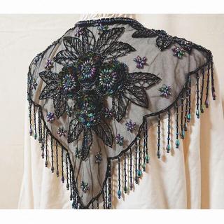 エディットフォールル(EDIT.FOR LULU)の【本日限定値下げ】vintage beads embroidery collar(つけ襟)
