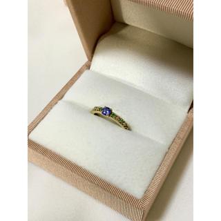 アーカー(AHKAH)のbizoux ビズー ティアレドフルール リング 指輪 タンザナイト 11号(リング(指輪))