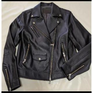 ユナイテッドアローズ(UNITED ARROWS)のユナイテッドアローズグリーンレーベル美品ライダースジャケット40 シープレザー(ライダースジャケット)