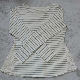 アズノウアズ(AS KNOW AS)のレディース  ボーダー 長袖Tシャツ   M  裾レース(カットソー(長袖/七分))