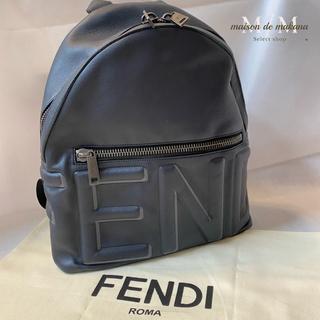 フェンディ(FENDI)の値下げ❤極美品 FENDI バックパック オール レザー ロゴ フェンディ(バッグパック/リュック)