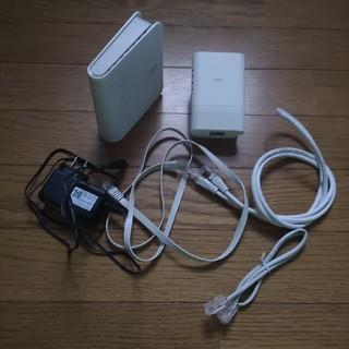 エヌイーシー(NEC)のnec中継器無線LANルーターLANケーブル3本atermw1200exwfcr(PC周辺機器)