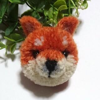 動物ぽんぽん【柴犬/オレンジブラウンb】(ぬいぐるみ)