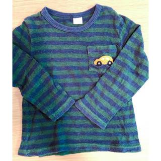 プティマイン(petit main)のプティマイン 車ロゴ入りロングTシャツ(Tシャツ/カットソー)