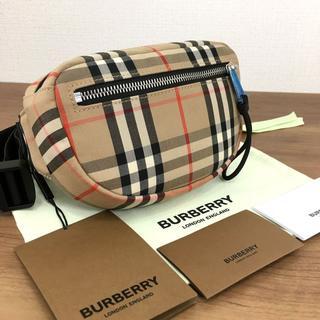 バーバリー(BURBERRY)の未使用品 BURBERRY ウエストポーチ タータンチェック 247(ボディーバッグ)
