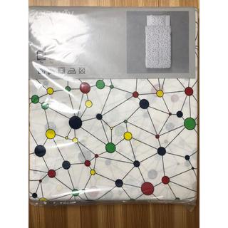 イケア(IKEA)の布団カバー シングル掛け布団カバー+枕カバー新品未使用(シーツ/カバー)