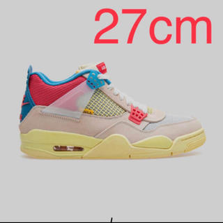 ナイキ(NIKE)のNike union Jordan 4 sp guava ice 27.0(スニーカー)
