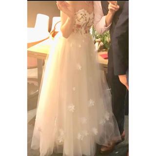 刺繍チュールウエディングドレス(ウェディングドレス)