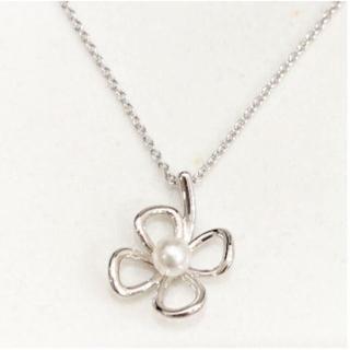 タサキ(TASAKI)の田崎真珠 TASAKI SHINJU silver シルバー ネックレス 花(ネックレス)
