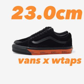 ダブルタップス(W)taps)の【23.0cm】WTAPS x  vans old skool BLACK(スニーカー)
